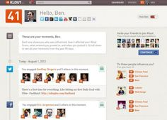 """Klout Transforms Into """"Social Media Resume"""" With New Design"""
