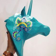 #unicornio #unicorn #decoracion #animales #talentocolombiano #ceramica #arte #pintura #lowpoly