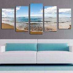 Sprawling Beach - 5 Piece Canvas - BigWallPrints.com - 4