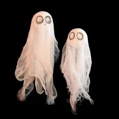 Channel Tim Burton vibes and make these creepy-cute Halloween ghosts.