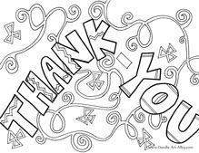 greeting card coloring pages from doodle art alley free and easy to print fun printable for thank you notes
