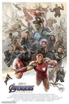 'Avengers: Endgame' limited edition poster by artist Paolo Rivera Marvel Avengers, Marvel Comics, Avengers Poster, Marvel Films, Marvel Fan, Marvel Memes, Captain Marvel, Disney Marvel, Avengers Wallpaper