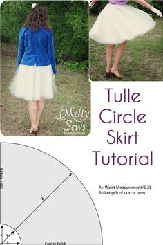 How to sew a Tulle Circle Skirt - Melly Sews - Tulle Skirt Tutorial