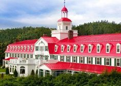Hotel, Tadoussac QC...went on a whale- and seal-watching cruise here.
