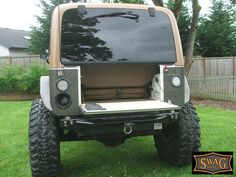 YJ Drop Down Tailgate Conversion Kit, $240, rated to hold 400lbs