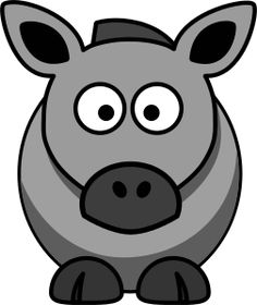 Cartoon Horse Grey by Remixed cartoon horse. Changed to grey to match the song, 'The Old Grey Mare. Cow Vector, Hello Kitty, Diy And Crafts, Old Things, Clip Art, Horses, Cartoon, Pets, Grey