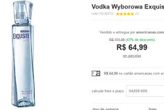 Vodka Wyborowa Exquisite - 750ml << R$ 6499 >>