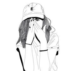 art, noir, griffonnages, dessins, mode, fille, grunge, indie, blanc