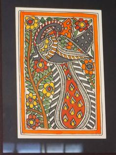 Madhubani Art( Mithila Art) -Art from an ancient city Madhubani Paintings Peacock, Kalamkari Painting, Madhubani Art, Indian Art Paintings, Indian Traditional Paintings, Gond Painting, Mural Painting, Fabric Painting, Sketch Painting