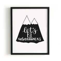 Poster `Let's Be Adventurers` | Posters | by NOTH