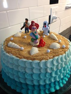 Little mermaid cake with buttercream frosting!