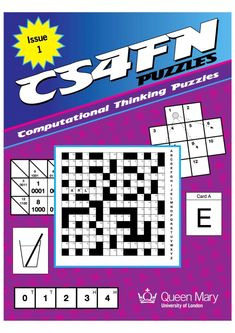 Puzzle Book 1 | Teaching London Computing: A RESOURCE HUB from CAS LONDON & CS4FN Computational Thinking, Logic Puzzles, Puzzle Books, Thinking Skills, Computer Science, Book 1, Inventions, Coding, Teaching