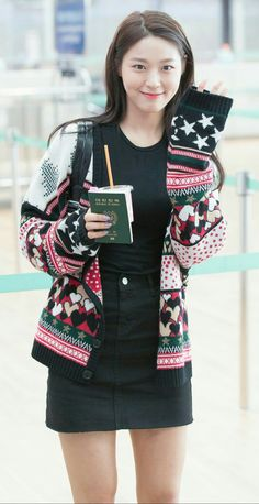 Seolhyun__AOA__Kim_Seol_Hyun Kpop Fashion, Korean Fashion, Womens Fashion, Airport Fashion, Seolhyun, South Korean Girls, Korean Girl Groups, Korean Beauty, Asian Beauty