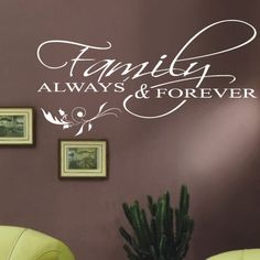 Family Wall Quotes Wall Art / Wall Stickers / by AmazingSticker, £17.99