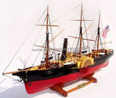 SS California steam ship model