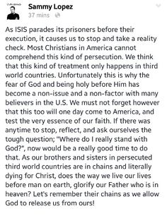 My pastor said it best..