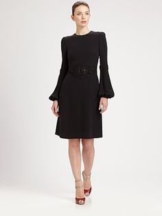 Valentino Silk Dress - I love the silhouette of this dress!