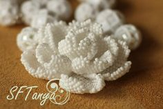 Flower Beads (rosette or camellia) :) | biser.info - instructions by diagram and photos