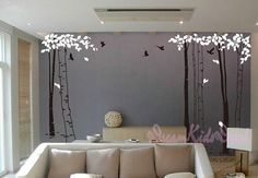 tree decal nursery wall decal baby wall decal by DreamKidsDecal