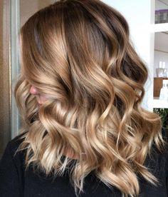 Light Caramel Balayage for Brown Hair