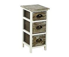 Colonna cassettiera in legno con 3 cassetti Floriane - 25x54x28 cm