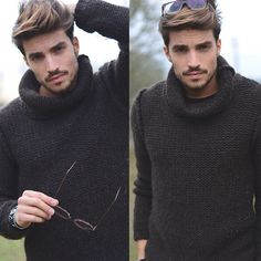 Relaxed Autumn sweater by Mariano Divaio.