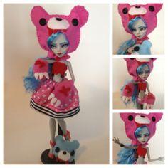 monster high custom doll  ooak monster thesleepyforest keberneteka cute kawaii repaint ghoulia gloomy bear