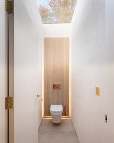 Space Saving Toilet Design for Small Bathroom - Home to Z Decoration Inspiration, Bathroom Inspiration, Bathroom Ideas, Decor Ideas, Skylight Bathroom, Bathroom Lighting, Concrete Bathroom, Washroom, Bathroom Faucets