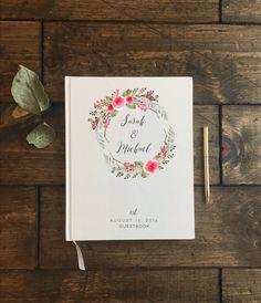 Wedding Guest Book. Guestbook Wedding. Floral por PrintSmitten