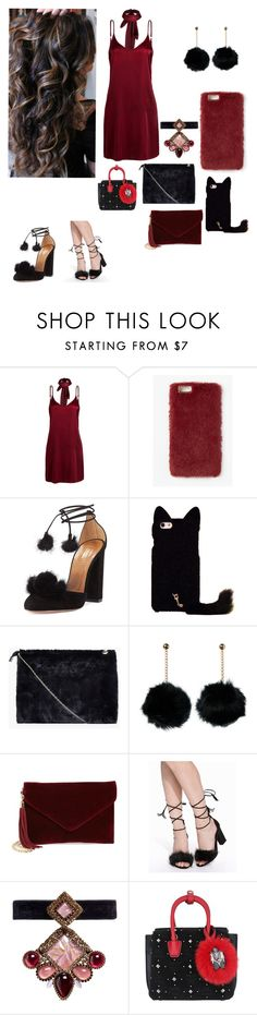 """""""Young fashion # 203"""" by demacracy ❤ liked on Polyvore featuring WithChic, Missguided, Aquazzura, Boohoo, BP., Nly Shoes, Erickson Beamon and MCM"""