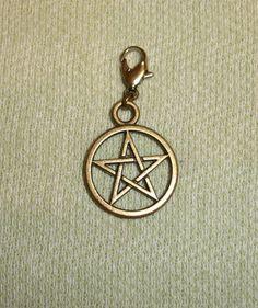 Pentagram  Pet Collar Charm or Purse Charm