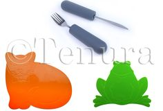 Dinner Time is Easier with Tenura Anti Slip Mats & Cutlery Grips!