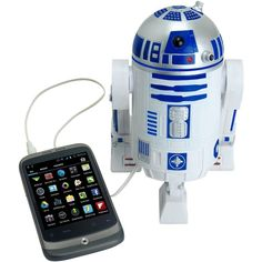 Star Wars Smart Phone Speaker Dock R2D2 ($90) ❤ liked on Polyvore featuring star wars