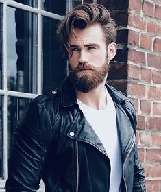 Shop haircuts, cool haircuts, haircuts for men, beard look, hipster hairsty Cool Haircuts, Hairstyles Haircuts, Haircuts For Men, Cool Hairstyles, Men's Hairstyle, Beard Look, Sexy Beard, Great Beards, Awesome Beards