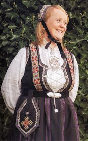 Hello all, Today I will cover the last province of Norway, Hordaland. This is one of the great centers of Norwegian folk costume, hav. Folk Costume, Costumes, Traditional Outfits, Norway, Scandinavian, Embroidery, Braces, Culture, Pocket