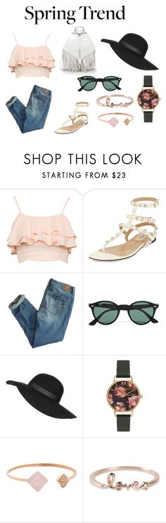 """""""Spring Trend"""" by iamvalerianl on Polyvore featuring moda, Valentino, American Eagle Outfitters, Ray-Ban, Topshop, Olivia Burton, Michael Kors, Sydney Evan y Rebecca Minkoff"""