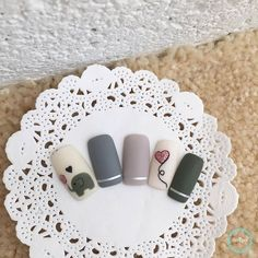 Animal Nails - Manicure for Animal Lovers Cartoon Nail Designs, Nail Art Designs Videos, Gel Nail Designs, Mani Pedi, Manicure And Pedicure, Elephant Nail Art, Hair And Nails, My Nails, Best Acrylic Nails