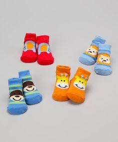 Love this Safari Hues Animal Socks Set by Baby Essentials on #zulily! #zulilyfinds