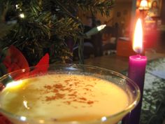 Don't foget to relax with an eggnog martini.