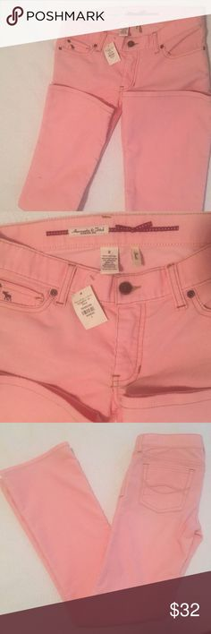 """Abercrombie & Fitch Boot Cut  Pink Corduroy Abercrombie Pink Cords! Size 2, 32"""" inseam. Brand New! hard to find Style! So so cute! Make me a reasonable offer! Cotton/Poly/Spandex Abercrombie & Fitch Jeans Boot Cut"""
