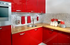 I Wouldn T Mind A Red Kitchen Love