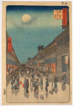 Japanese Art: Ukiyo-e. City Life. Ichiryusai Hiroshige. 1856.