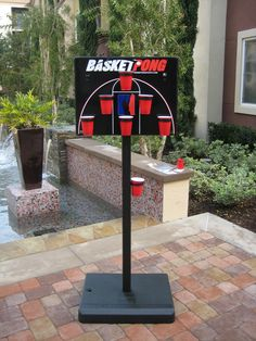 BasketPong - The hottest new tailgating and party game.  Pong gone VERTICAL!