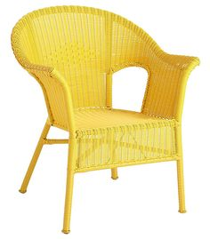 Casbah yellow garden chair by Peir 1 imports. We like its more modern look with less details.