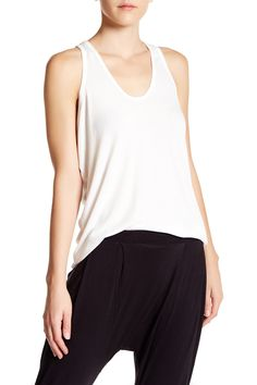 Drop Armhole Ribbed Tank