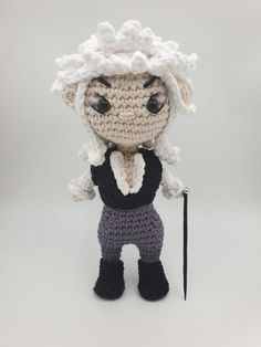 Crochet amigurumi pattern for the Goblin King, Jareth - inspired by the 1980's movie, The Labyrinth.  Jareth is designed to hold his own weight and stand up by himself. The arms in the doll are hollow so there is also the option to insert hobby wire or pipe-cleaners to make them poseable. Art Patterns, Pattern Art, Crochet Patterns Amigurumi, Crochet Hats, Goblin King, Pipe Cleaners, Cult Movies, Finding Yourself, Arms