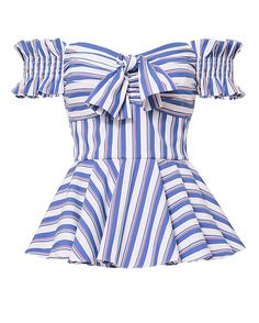 Shop the Caroline Constas Artemis Striped Off Shoulder Bustier Top & other designer styles at IntermixOnline.com. Free shipping +$150.
