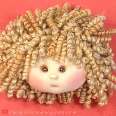 handgemachte Puppen New hair, who diss By: manualilolis, muecas para soar Yarn Dolls, Felt Dolls, Crochet Dolls, Diy Rag Dolls, Bjd Doll, Doll Wigs, Handmade Dolls Patterns, Doll Patterns, Fabric Doll Pattern