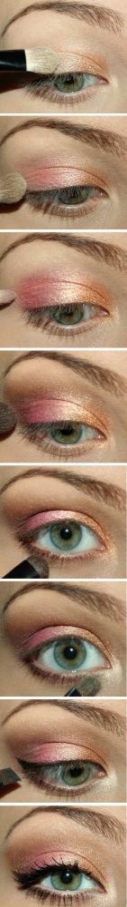 Summer Make-Up (I like the gold/pink concept!)