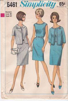 1960's Vintage Sewing Pattern Sleeveless Dress by Ziatacraft